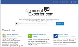 CommentExporter.com ดึงคอมเม้นแล้วเซฟลงเครื่อง ดึงReplyได้